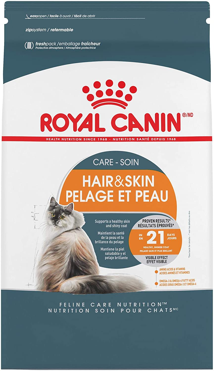 Royal Canin Feline Care Nutrition Hair & Skin Care Adult Dry Cat Food Image