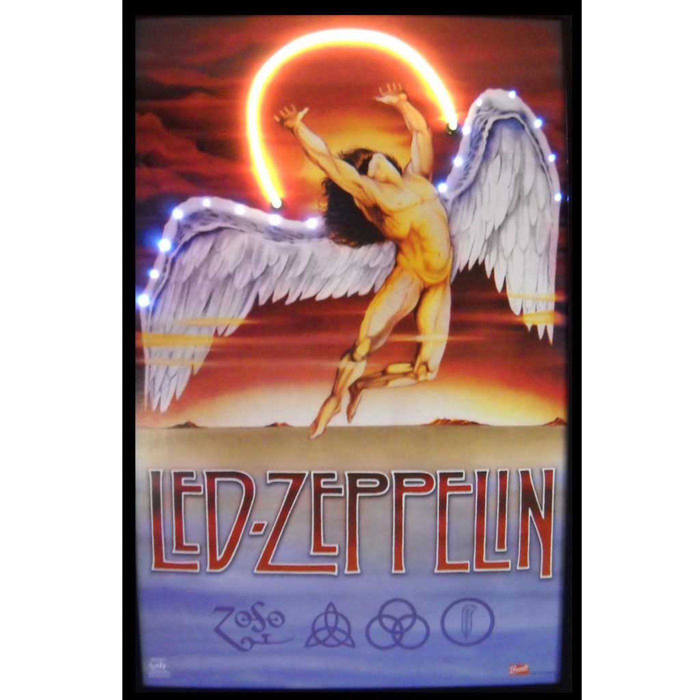 Led Zeppelin Neon LED Art Picture by Neonetics