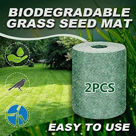 Biodegradable Grass Seed Mat Garden Lawn Erosion Control Blanket for full role in raising seedlings Windproof solid soil shading