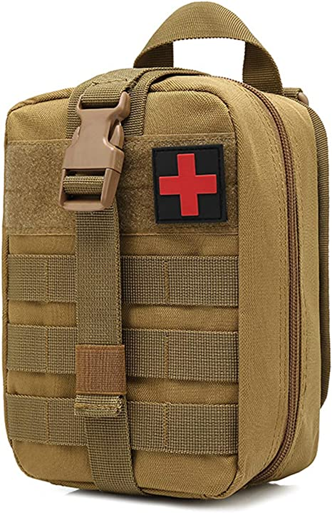 Tactical MOLLE Rip Away EMT Medical First Aid IFAK Pouch Bag Only