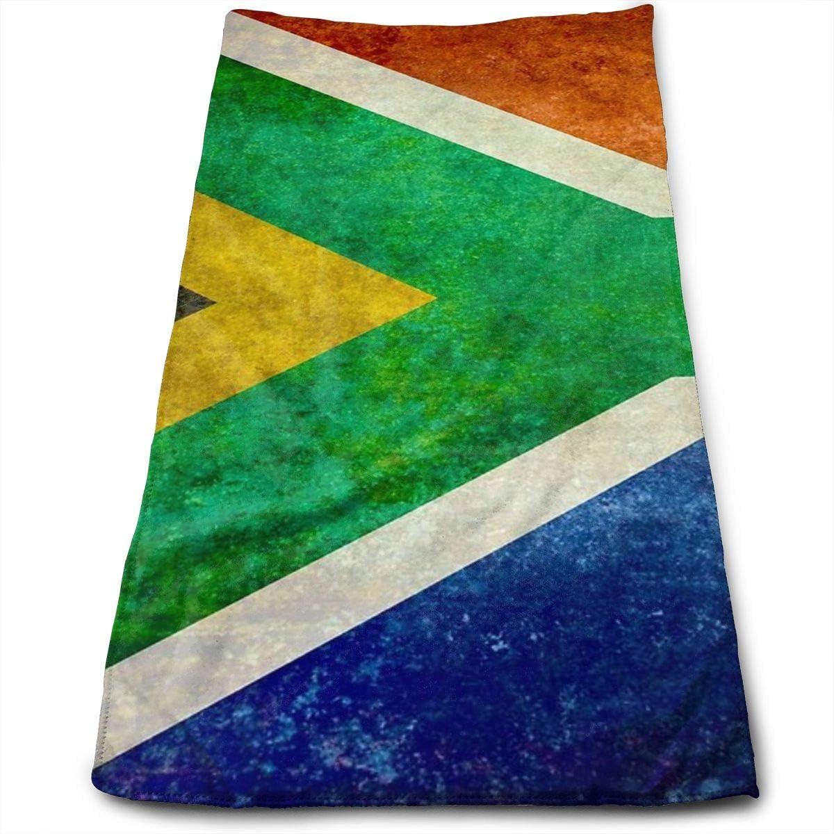 Dnwha - Toalla de poliéster con diseño de la Bandera Nacional de la República de Sudáfrica, Toalla Absorbente para Lavado de Cara y Cuidado del Cabello, Apta para Piscina, Gimnasio y baño
