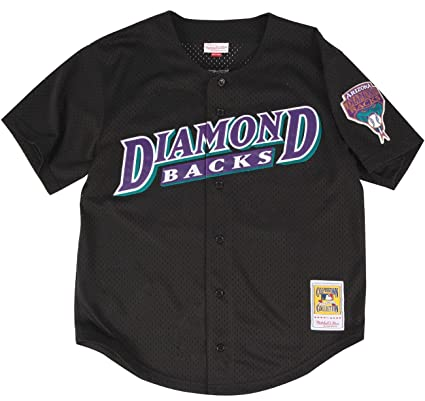 9db69eb56 Mitchell   Ness Randy Johnson Black Arizona Diamondbacks Authentic Throwback  Jersey 3X-Large (56