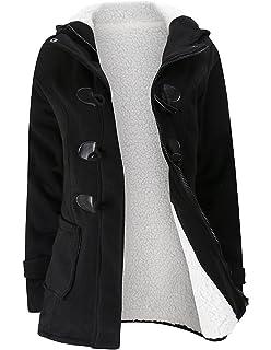 M-Queen Mujer Sudaderas con capucha con Horn botones Abrigo Chaqueta Hoodie Pullover Sweater…