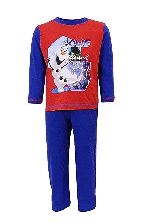 a7d859c6c Disney Boys Frozen Pyjamas Set Kids Olaf and Sven Print Top ...