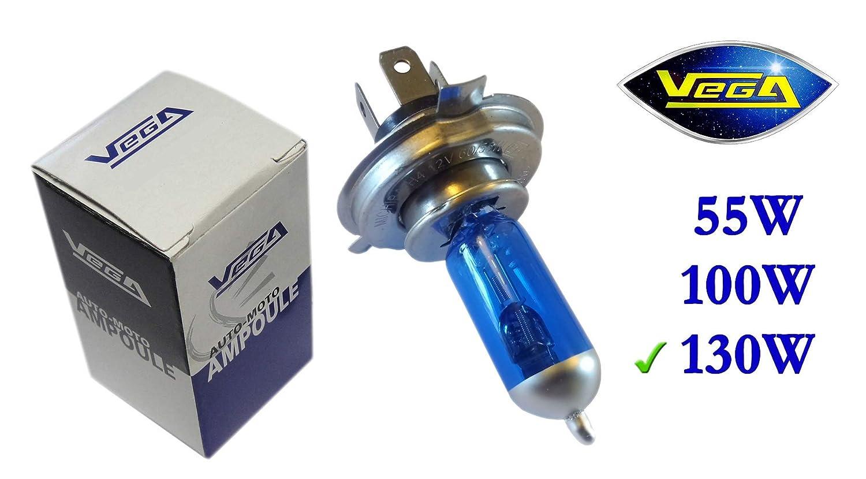 1 ampoule Vega® Xénon 'Day Light' H4 130W/90W P43t Lumière du jour Super White Marque Française 12V