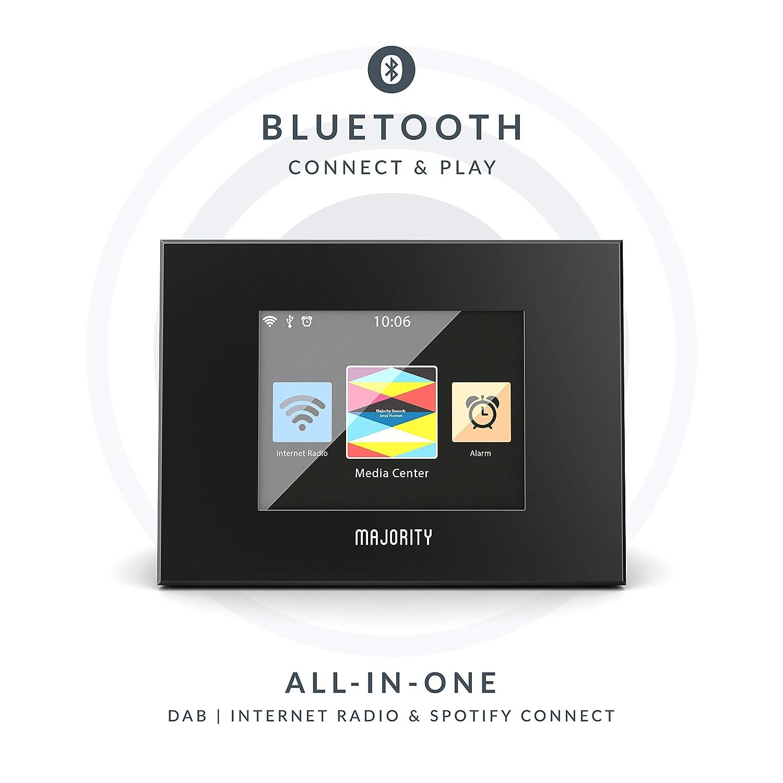 Majority Robinson Adaptador de Radio Digital Dab/Dab+/FM y Receptor de Internet - Spotify Connect - Bluetooth - Control Remoto - Óptico y Salida de ...