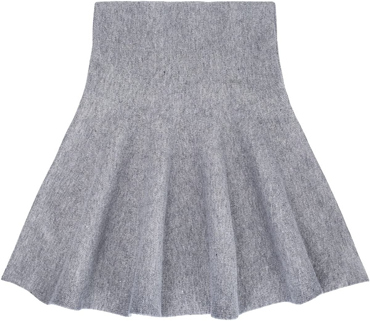storeofbaby Girls Skirt High Waist Knitted Flared Pleated Casual Skater Skirts