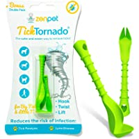 Tick Tornado ZenPet Tick Remover for Dogs & Cats & People - Value Pack - Easy and Fast Tick Removal Tool (2-Pack)