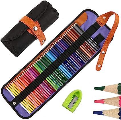 50 Lapices de Colores para dibujo profesional, lapiz para colorear de pinturas y Bosquejo Material de dibujo Set, Incluye sacapuntas, Mejores Lápices de colores Conjunto Ideal para Adultos y Niños: Amazon.es: Oficina