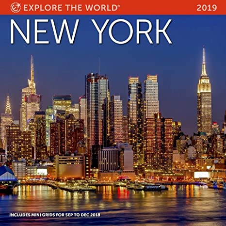 Amazoncom New York Wall Calendar 2019 Monthly January December 12