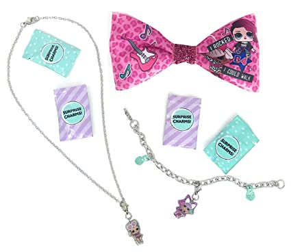Amazon com: L O L  Surprise! Charm Necklace Bundle with