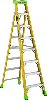 Louisville 8-Foot 375-pound Load Capacity Fiberglass Cross-Step Ladder