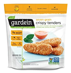 Gardein Seven Grain Crispy Tenders, Meatless Protein Packed Strips, Ready in 8 Minutes, 9 Ounces (Frozen)