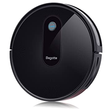 Bagotte BG600 Robot Vacuum Cleaner, 1500Pa High Suction, 2 7