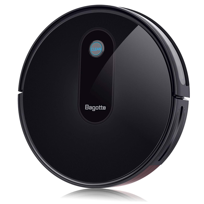 Bagotte BG600 Robot Vacuum Cleaner, 1500Pa High Suction, 2.7'' Slim, Self-Charging, Smart Robotic Vacuum Cleaner Automatic Sweeper for Pet Hair, Carpet, Hardwood Floors, Tile