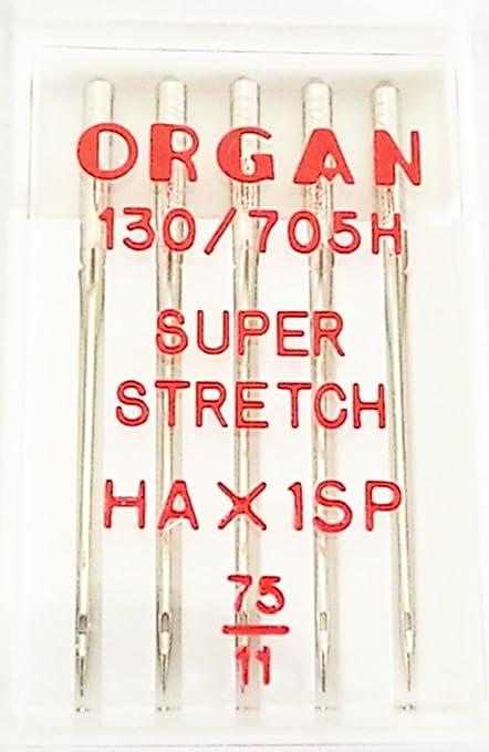 Organ Máquina de coser agujas Super Stretch 75er 130/705 H 5435075