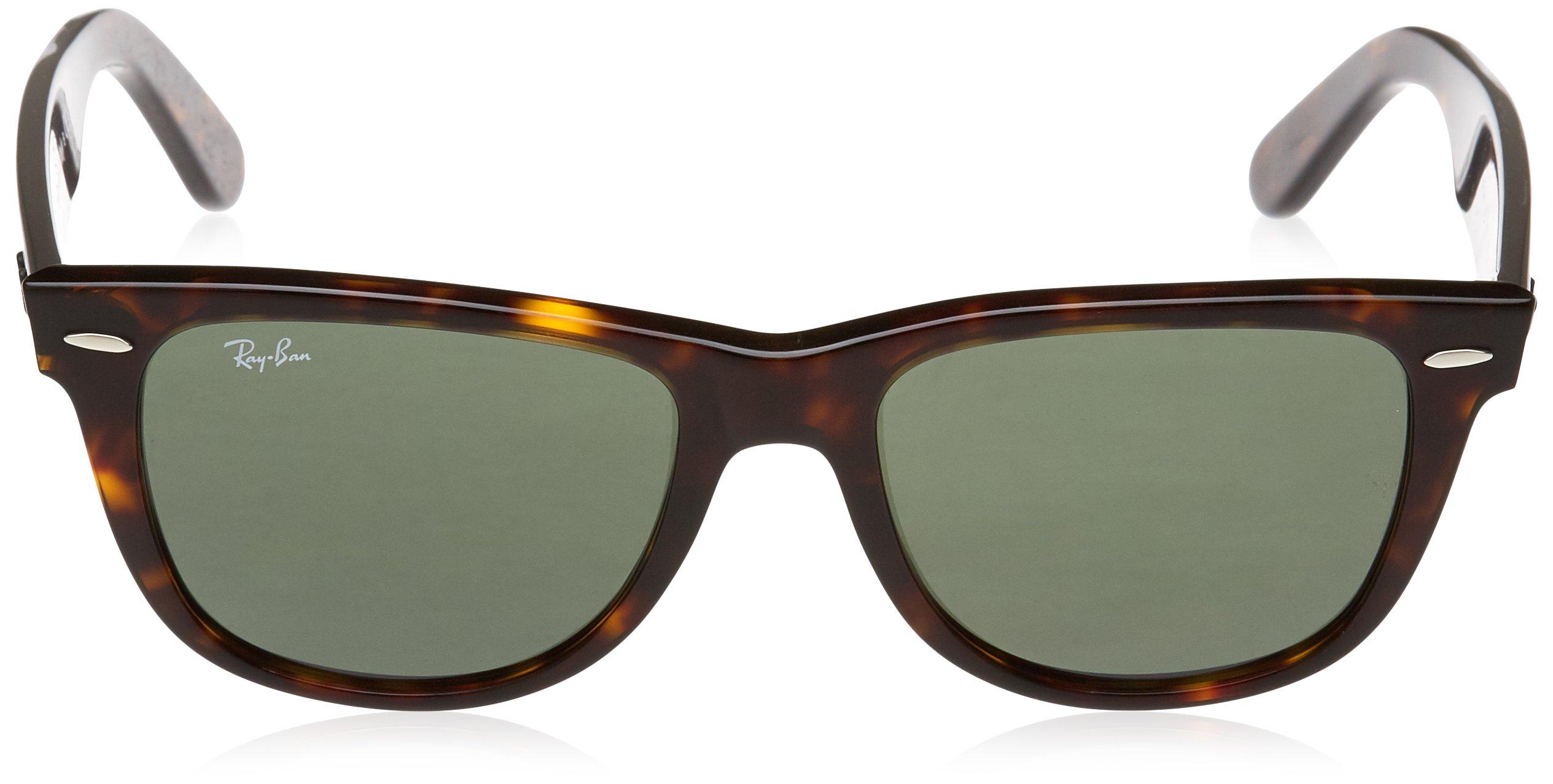 Ray-Ban, RB2140 Original Wayfarer Sunglasses, Unisex Ray-Ban Glasses, 100% UV Protection, Non-Polarized, Reduce Eye Strain, Lightweight Acetate Frame, Prescription-Ready Lenses, 54 mm Frame by Ray-Ban (Image #2)