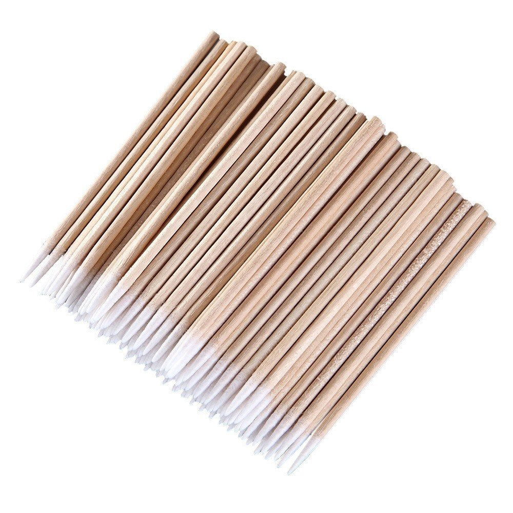 Daycount® 600pcs Pointed Cotton Swabs, Microblading Tattoo Supply Handle Makeup Cosmetic Applicator DC1851