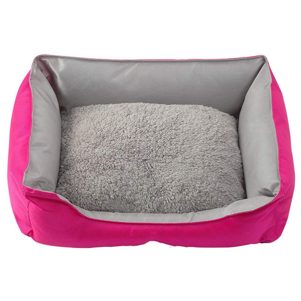 RED Medium RED Medium 5GHjkj Appearance Fashion Warm Oxford Cloth Detachable Dual-use Small Dog Teddy Nest Pad is Not Easy to Deform and Not Afraid of Dirty Pet Mat (color   RED, Size   M)