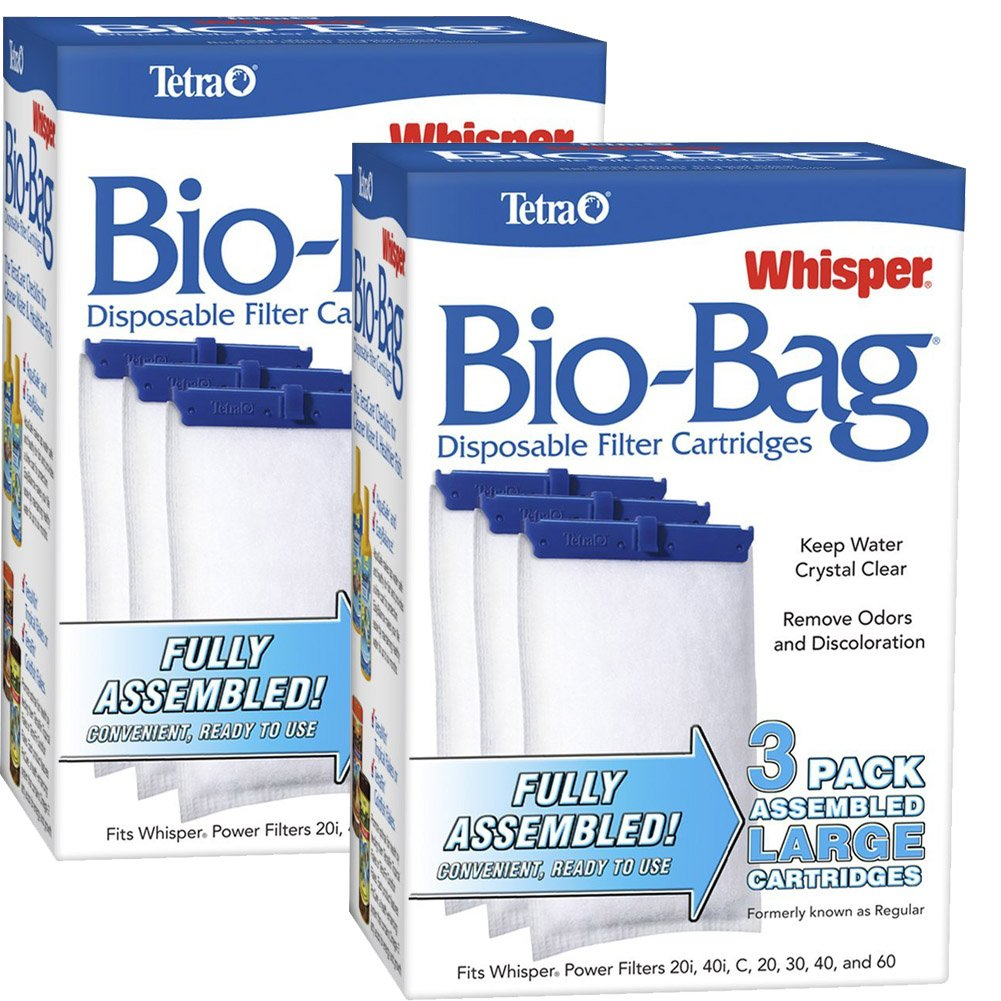 Tetra Whisper ATS26170 Assembled Bio-Bag Filter Cartridges, Large 3 Count