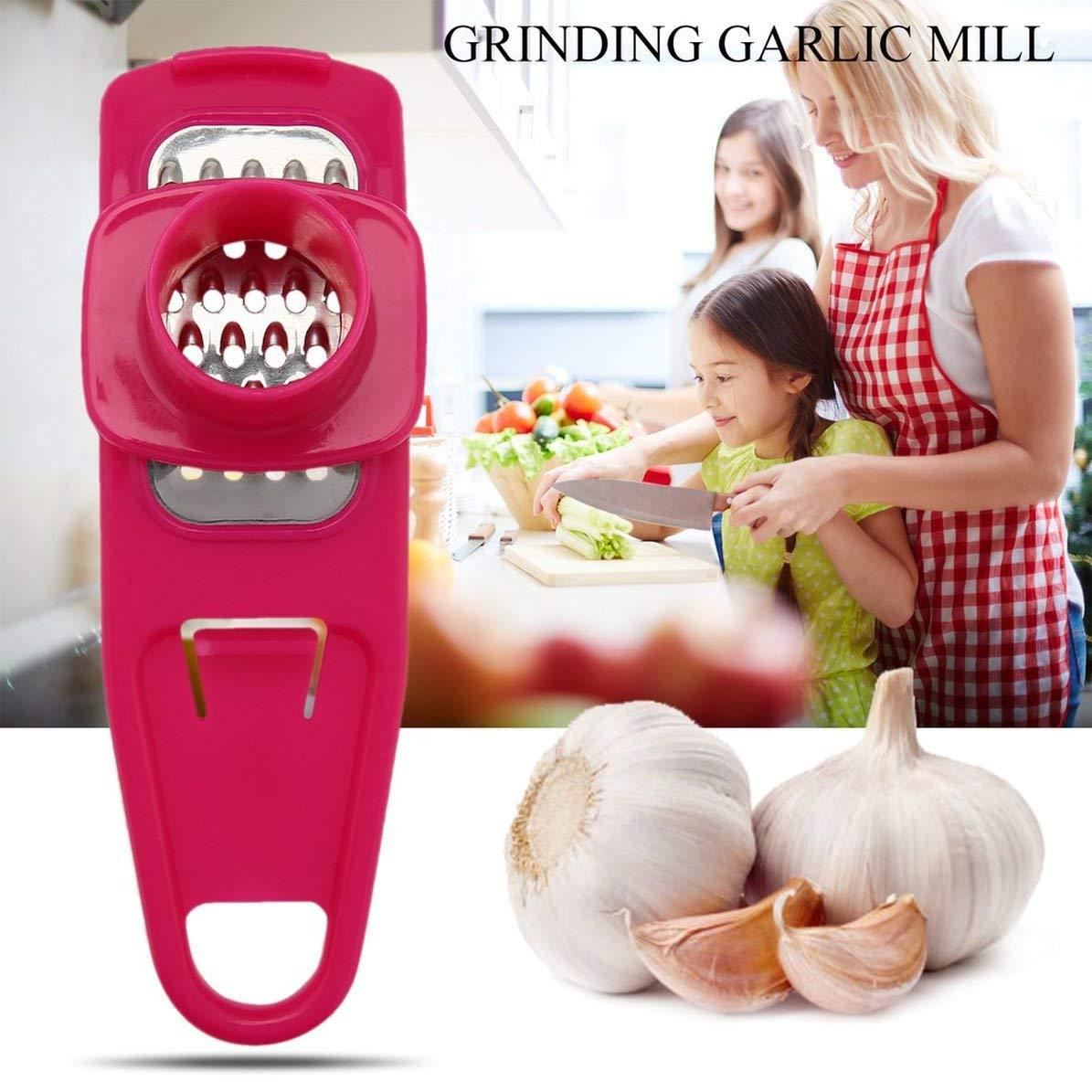 Household Grinding Garlic Mill Multifunction Ginger Garlic Crusher Portable Garlic Press Device Kitchen Accessories