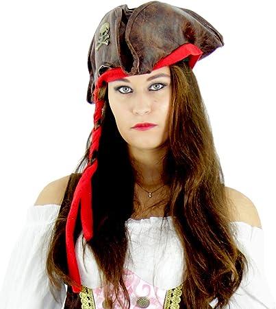 Pirat Piratenhut Piraten Piratin Seeräuber Mütze Hut Kostüm Damen Piratenkostüm