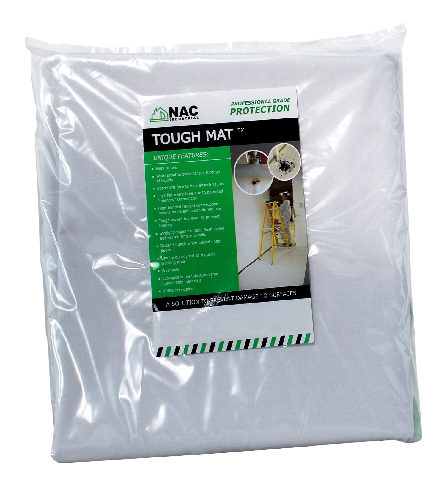 NAC INDUSTRIAL TMP050 Professional Waterproof HD Canvas Drop Cloth, Tough Mat