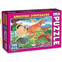 Creative Educational Aids P. Ltd. Amazing Dinosaurs Puzzle (Multi-Color, 100 Pieces)