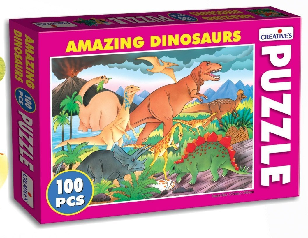 Creative's Amazing Dinosaurs Puzzle (Multi-Color, 100 Pieces) product image