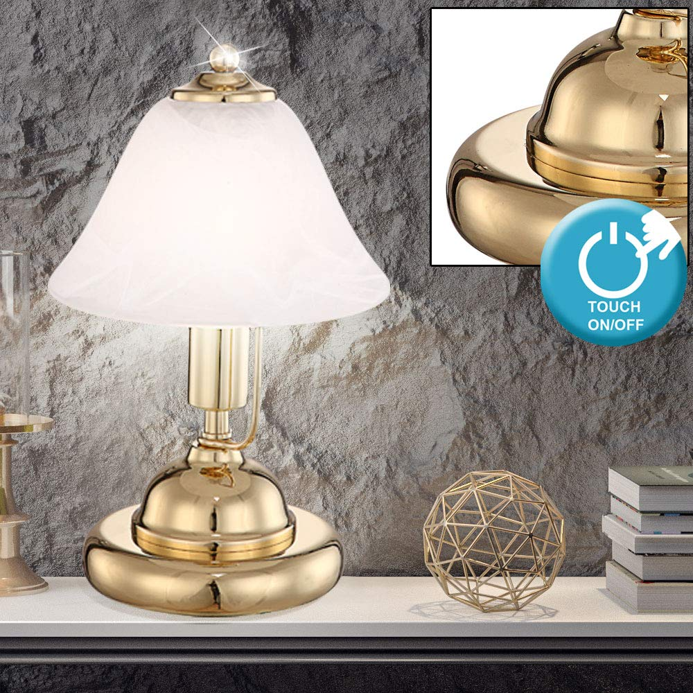 LED Messing Schreib Tisch Lampe Arbeits Zimmer Touch