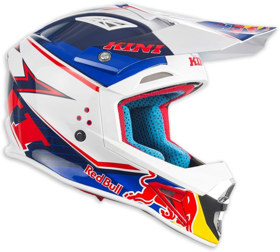 Kini Red Bull Competition Motocross Helmet Xs True Blue Vintage