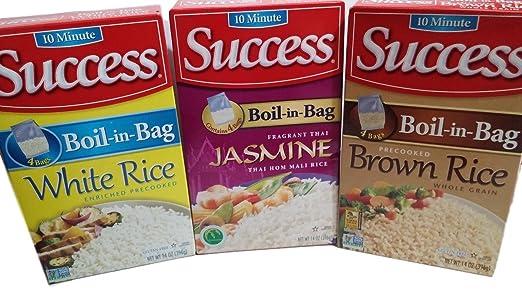 éxito Arroz, 10 minutos, boil-in-bag, Jasmine, café, color ...