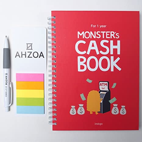 amazon com monster s cash book 1year including ahzoa pencil and