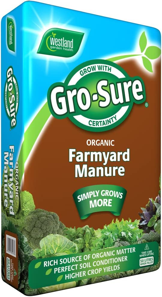 Levington 50L Organic Blend Farmyard Manure 100/% Organic Plant Soil Conditioner