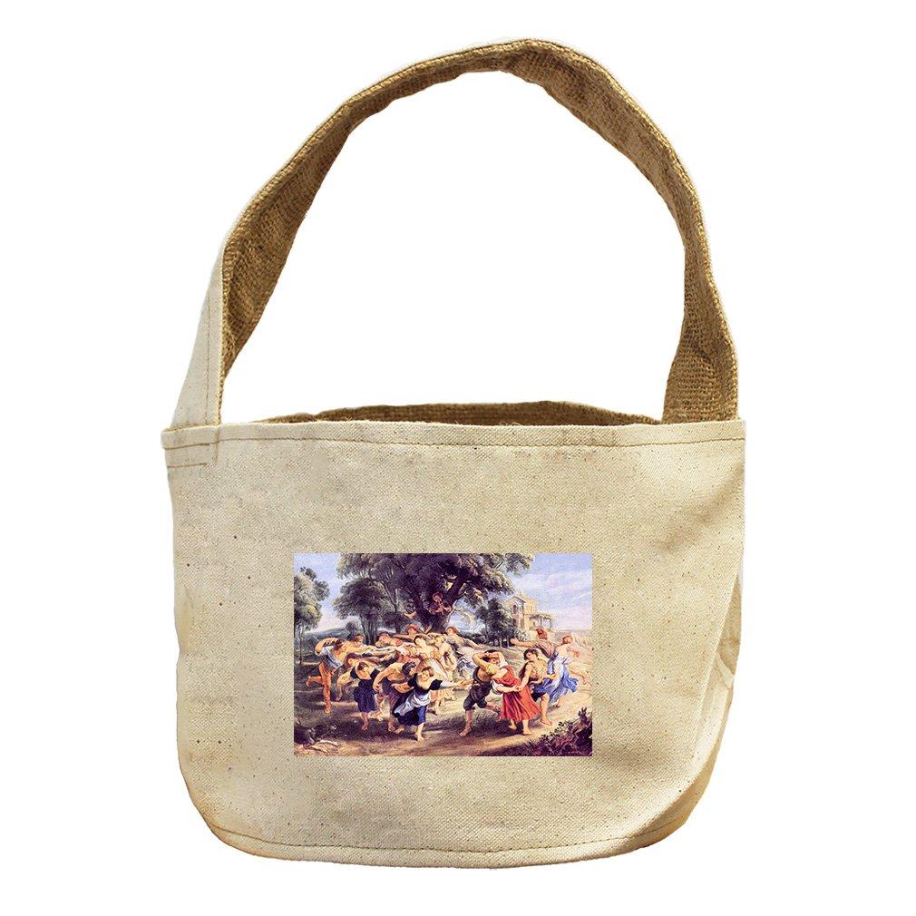 Style in Print Barn Dance (Rubens) Canvas and Burlap Storage Basket Basket