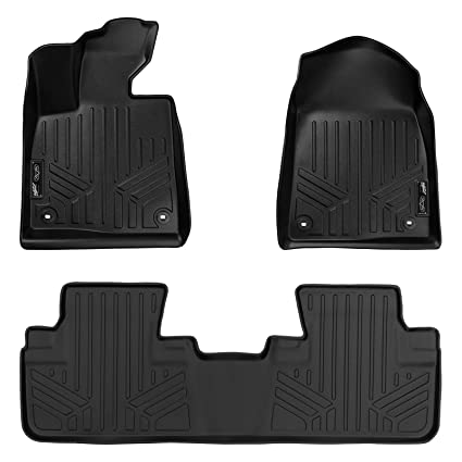 Amazon Com Smartliner Floor Mats 2 Row Liner Set Black For 2016