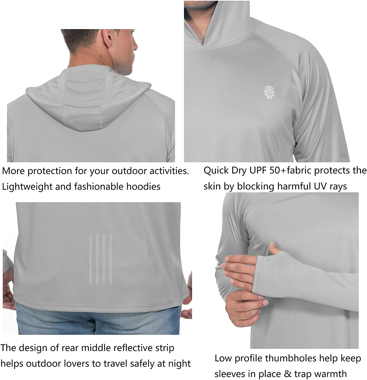 Fishing Shirts for Men Long Sleeve Sun Protection SPF 50 UV Tshirt Hoodies