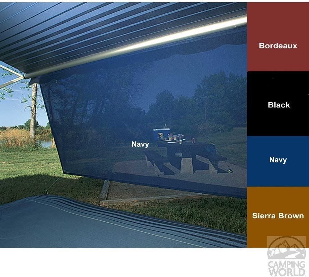 Shade Pro RV Vinyl Awning Replacement Fabric Fabric 152 Solid Black 16