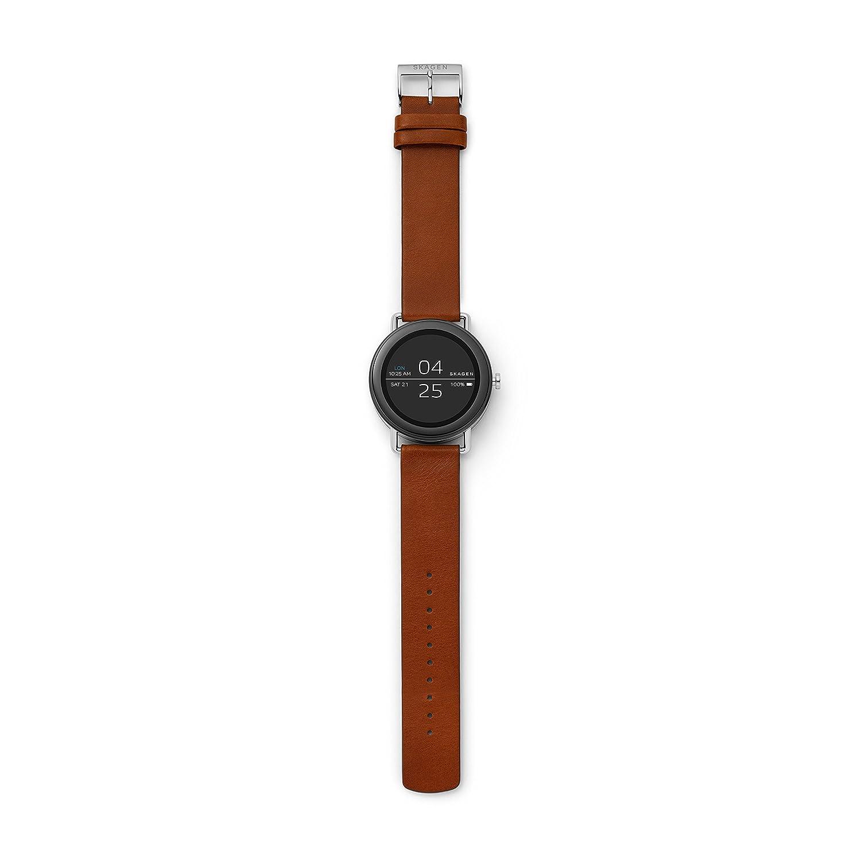 Skagen Mixte Digital Quartz Montre avec Bracelet en Cuir SKT5003: Amazon.fr: Montres