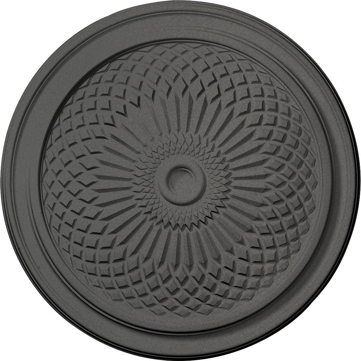Ekena Millwork CM22TNSGS 22'' OD x 1 3/4'' P Trinity Ceiling Medallion fits Canopies up to 3'', Steel Gray