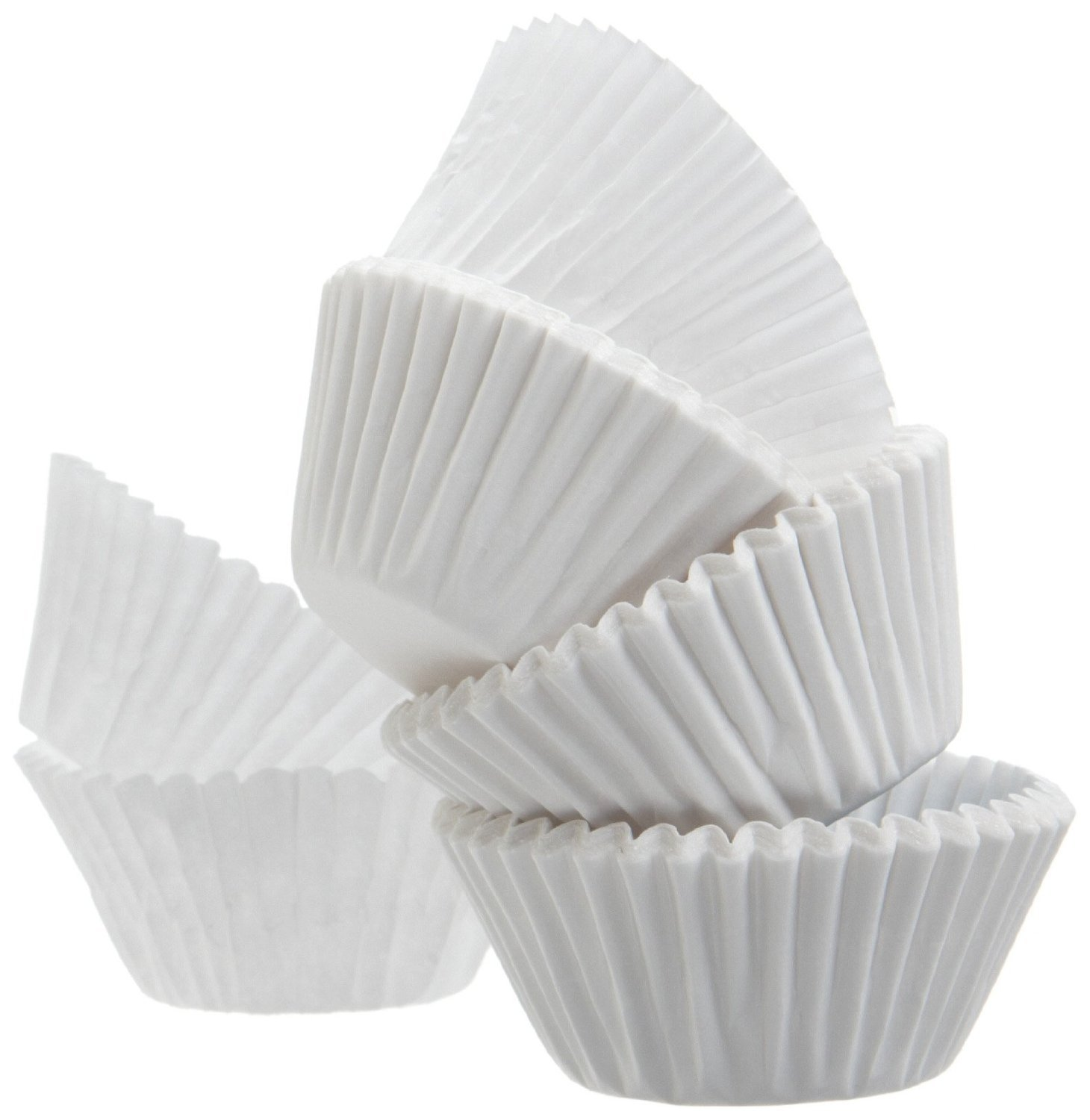 Green Direct Cupcake Liners - Standard Size Cupcake Wrappers to use for Pans or carrier or on stand - White Paper Baking Cups Pack of 500