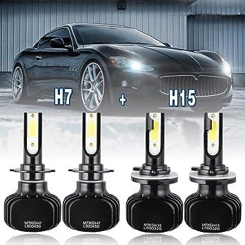 4x Combo H7+H8//H9//H11 200W 20000LM CREE LED Hi-Low Headlight Kit Bulbs 6000K