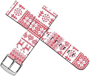 Strap Compatible for Apple Watch Series SE/6/5/4/3/2/1 38mm/40mm Sport - ENDIY Designer Leather Fashionable Band Replacement for Iwatch Xmas Christmas Theme Design Pattern Red Christmas Reindeer
