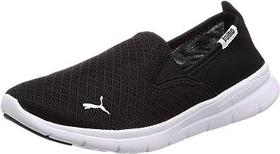 black puma slip on shoes