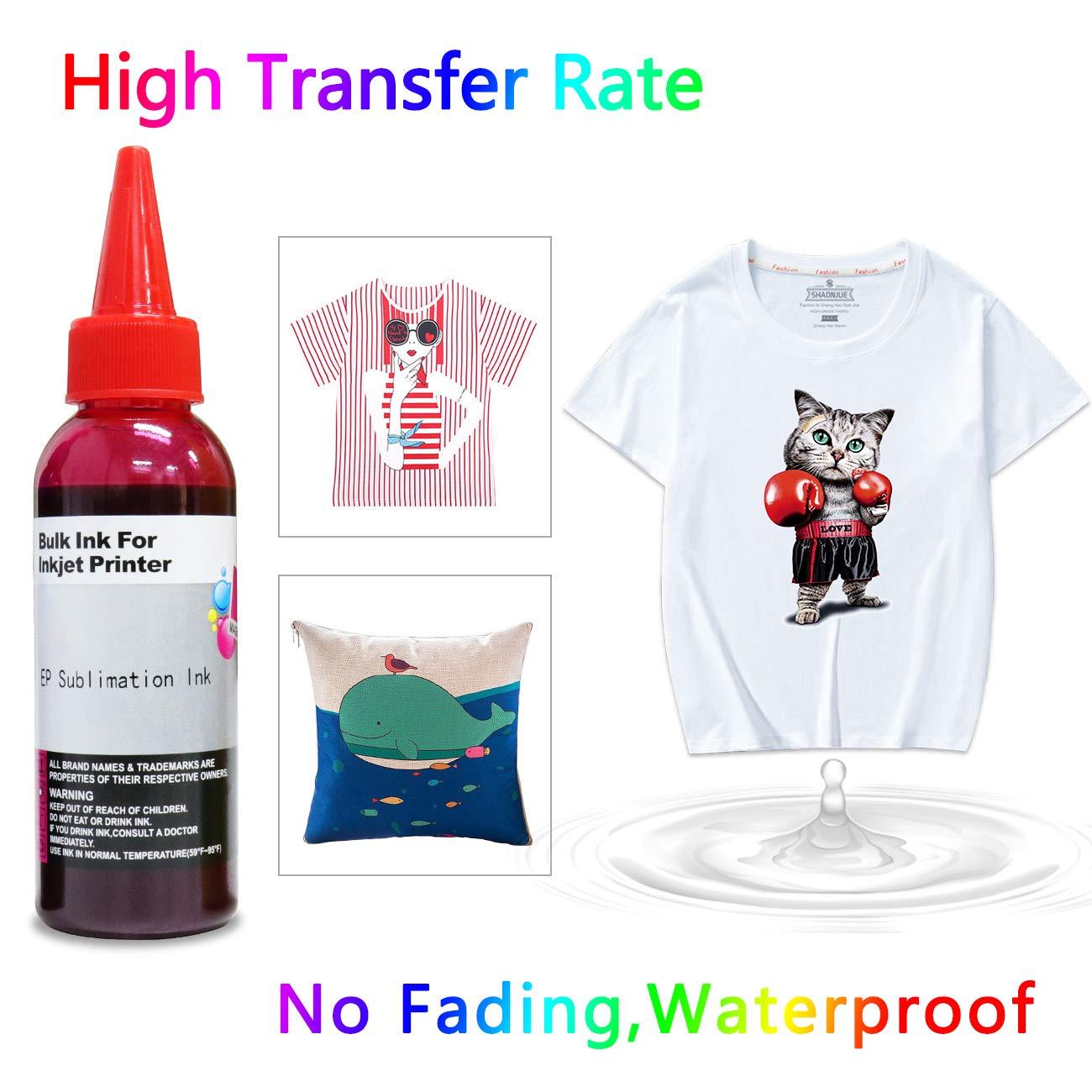 400ml Sublimation Ink for Epson Inkjet Printers C88+ C88 WF7610 WF7010  WF7710 WF7720 WF7110 WF7210 WF3640 WF3610 WF3540 Heat Press Transfer on  Mugs,