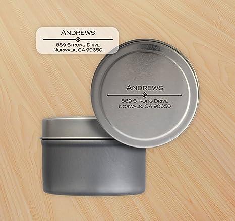 Diamond Bar Return Address Labels W/Personalized Storage Tin   2836