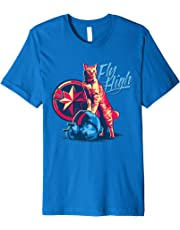Marvel Captain Marvel Fly High Goose Cat T-Shirt