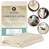 Cheesecloth, Grade 50, 36 Sq Feet, Reusable, 100% Unbleached Cotton Fabric, Ultra Fine Cheesecloth for Cooking-Nut Milk Bag, Strainer Filter