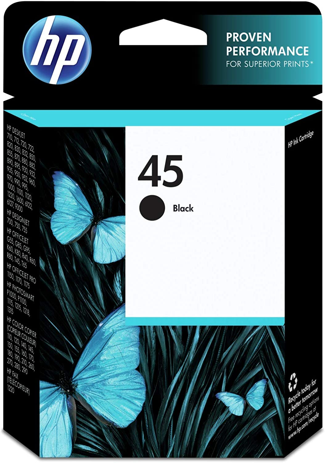 HP 45 | Ink Cartridge | Black | 51645A