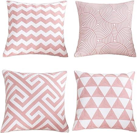 Cuscini Per Decorare Il Letto.Yumu Casa 4 Cuscino Copre Stile Nordico Modello Geometrico Cuscino